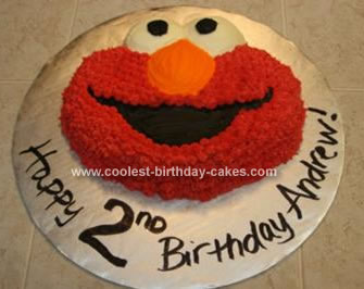 Loveable Homemade Elmo Cake Made With The Wilton Pan