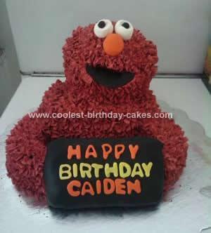Homemade Elmo Cake