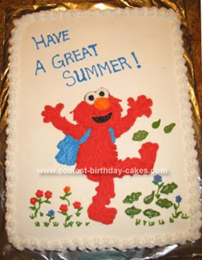Homemade Elmo Cake