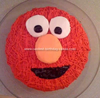 Stupendous Cool Homemade Elmo Cake Idea Personalised Birthday Cards Veneteletsinfo