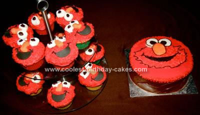Phenomenal Coolest Elmo Cupcakes And Cake Ideas Personalised Birthday Cards Cominlily Jamesorg