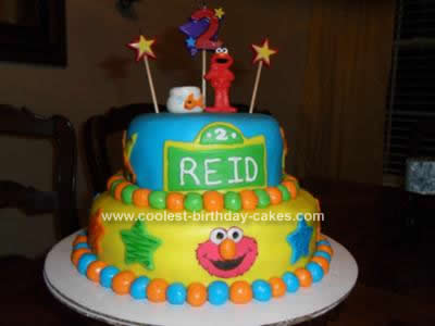 Coolest Elmos World Birthday Cake