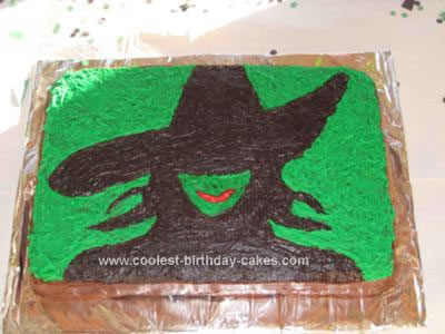 Homemade Elphaba from Wicked Cake