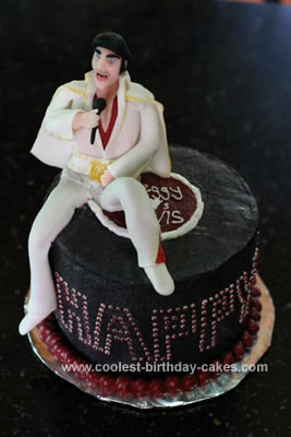 Homemade Elvis Birthday Cake
