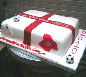 Homemade England World Cup Cake