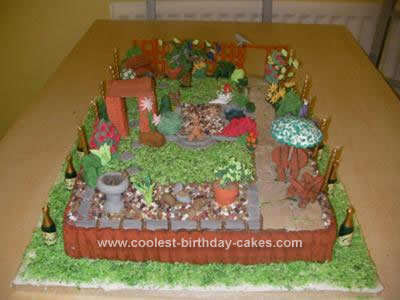 Fine Coolest English Garden Birthday Cake Funny Birthday Cards Online Overcheapnameinfo
