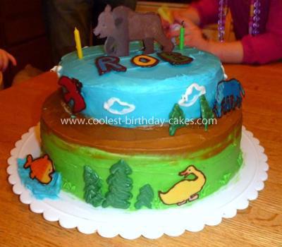 Homemade Eric Carle Brown Bear, Brown Bear, What do you see Cake