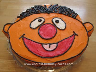 Homemade Ernie Birthday Cake