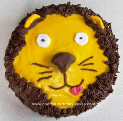 Homemade Ever Lion Cake