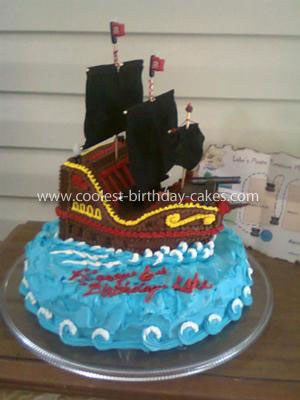Coolest Ever Pirate Ship Birthday Cake