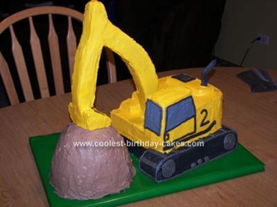 Homemade Excavator Cake