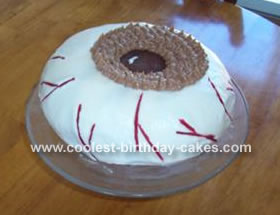 Homemade Eye Ball Cake