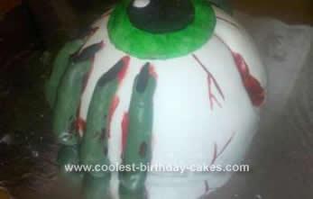 Homemade Eyeball Cake