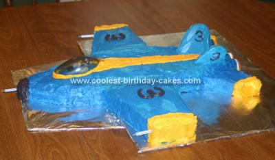 Homemade FA 18 Blue Angels Cake