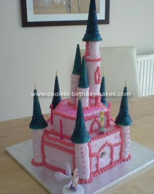 Homemade Fairy Castle Cake