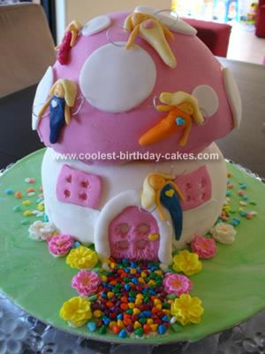 Homemade Fairy Toadstool Birthday Cake