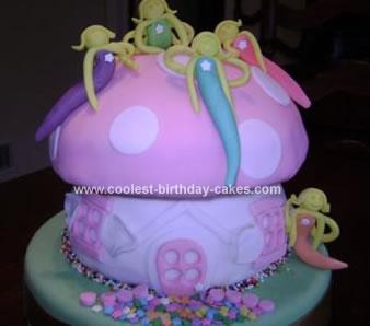 Homemade Fairy Toadstool Cake