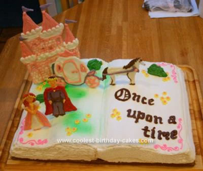 Homemade Fairytale Book Birthday Cake