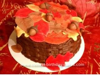 Homemade Fall Basket Cake