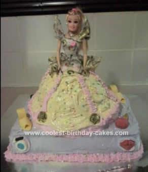 Homemade Fancy Dress Belle Birthday Cake