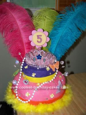 Homemade Fancy Nancy Birthday Cake