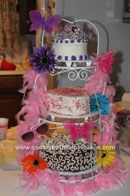 Homemade Fancy Nancy Birthday Cake Design
