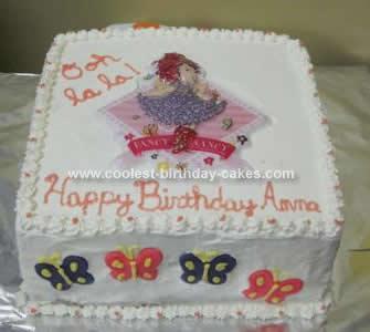 Homemade Fancy Nancy Bonjour Butterfly Cake