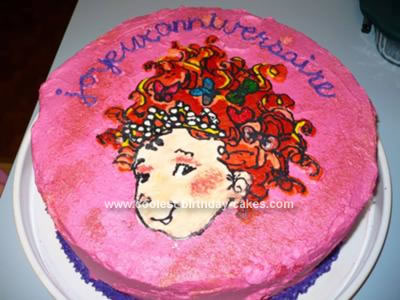 Homemade Fancy Nancy Cake
