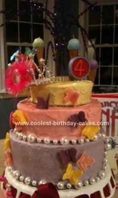 Homemade Fancy Nancy Cake