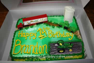 Homemade Farm Scene Birthday Cake