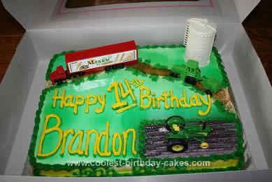 Homemade Farm Scene Birthday Cake