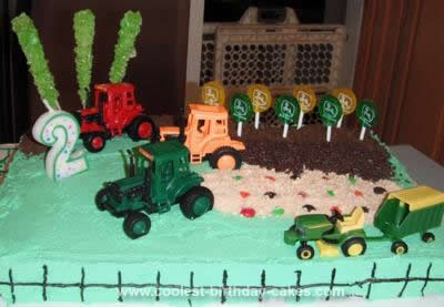 Homemade Farm Tractor Cake
