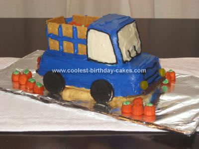Homemade Farm Truck Birthday Cake