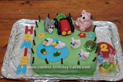 Homemade Farm Yard Cake