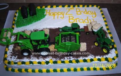 Cool Homemade Farming Cake With Graham Crackers Field
