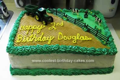 Cool Cool Homemade Farming Tractor Scene Cake Design Funny Birthday Cards Online Fluifree Goldxyz