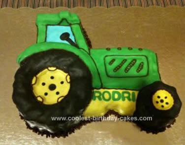 Homemade Farming Tractor Cake Design