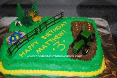 Phenomenal Coolest Farmyard And Tractor Birthday Cake Funny Birthday Cards Online Fluifree Goldxyz