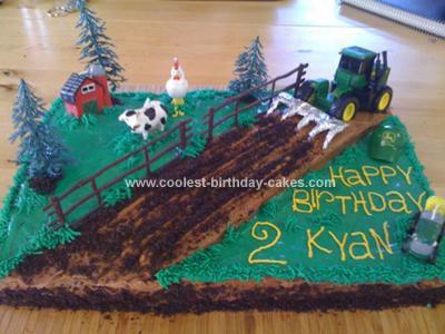 Homemade Farmyard Birthday Cake