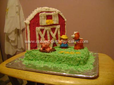 Coolest Farmyard Birthday Cake