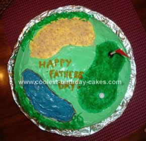 Homemade Father's Day Golf Cake