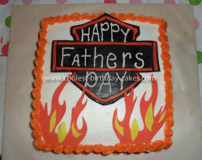 Coolest Father's Day Harley Davidson Cake