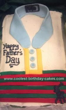 Homemade Father's Day Polo Shirt Cake