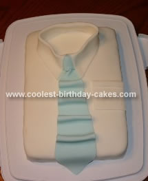 Father's Day Shirt And Tie Cake