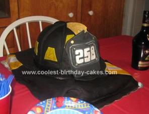 Coolest FDNY Helmet Cake