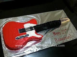 Homemade Fender Electric Guitar Cake