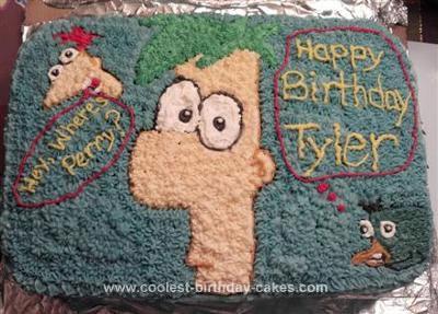 Homemade Ferb Cake