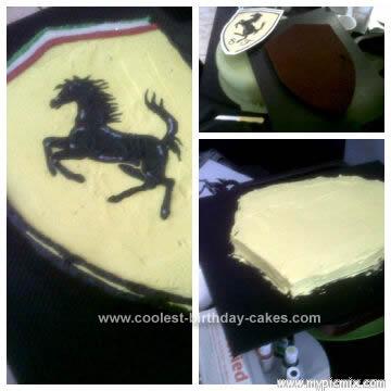 Homemade Ferrari Badge Cake