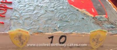 Homemade Ferrari Birthday Cake Design