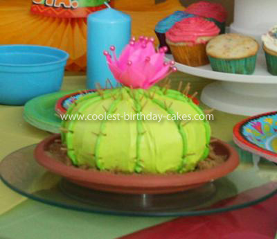 Phenomenal Coolest Fiesta Cactus Cake Funny Birthday Cards Online Bapapcheapnameinfo